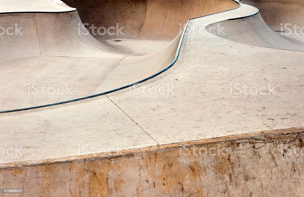 Skate park background stock photo