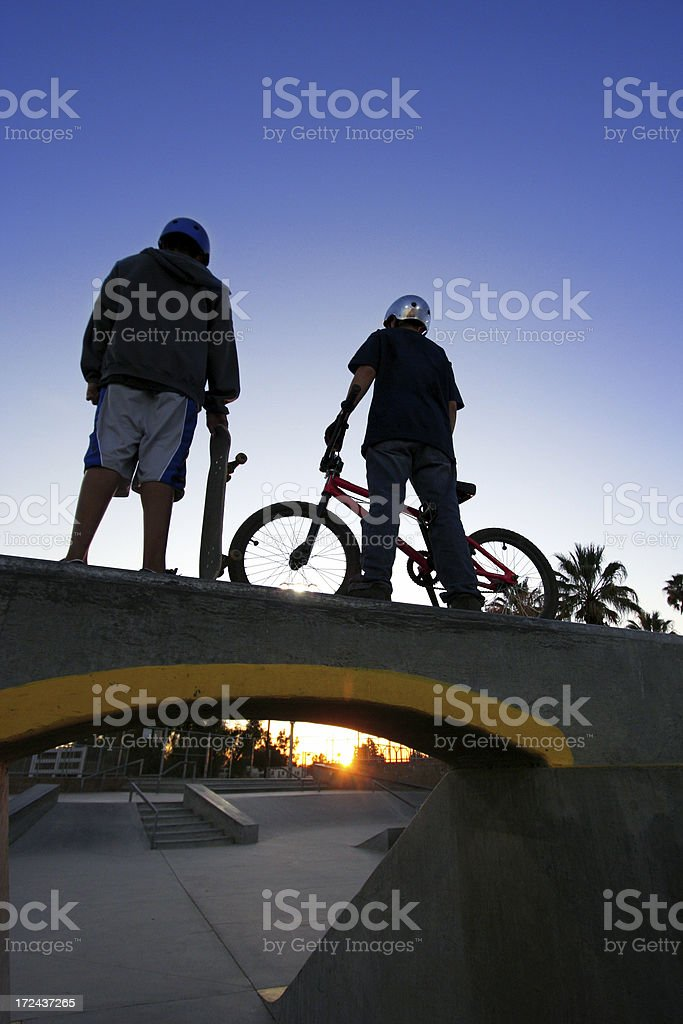 Skate Park Kids royalty-free stock photo