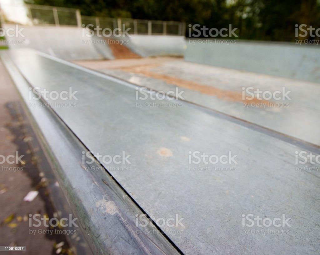 Skate park rail stock photo