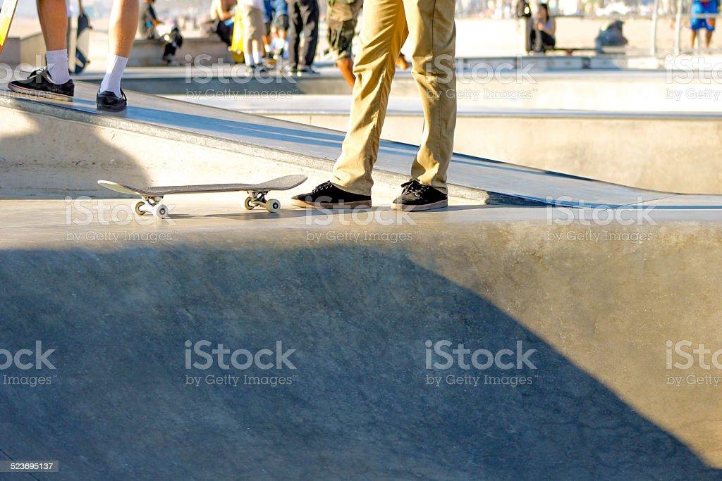 Skateboard and Feet stock photo