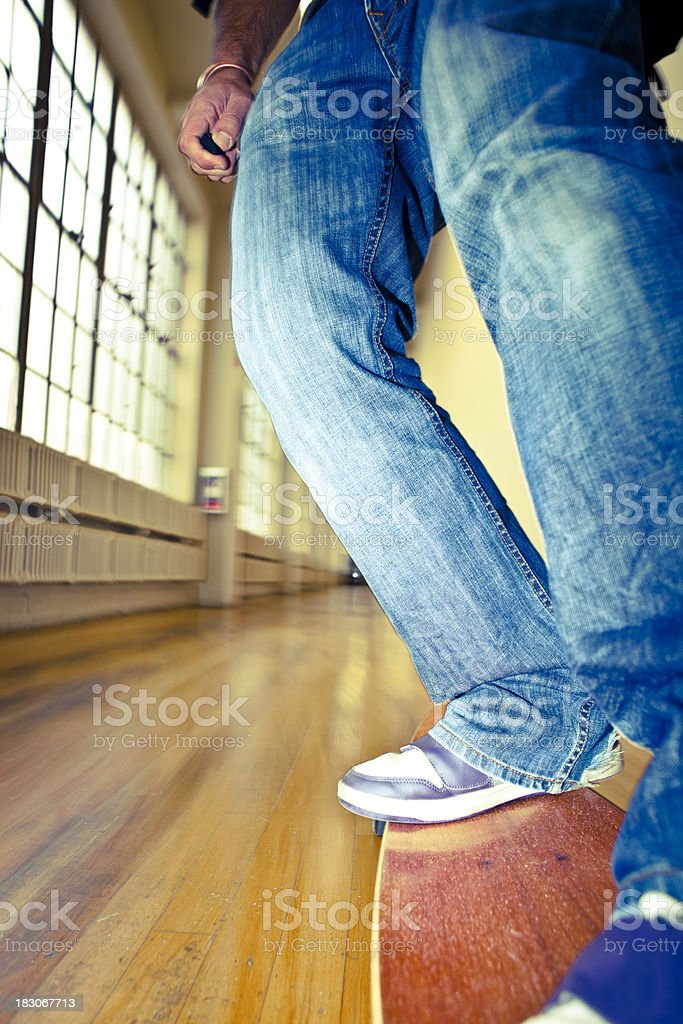 skateboard blurred action stock photo
