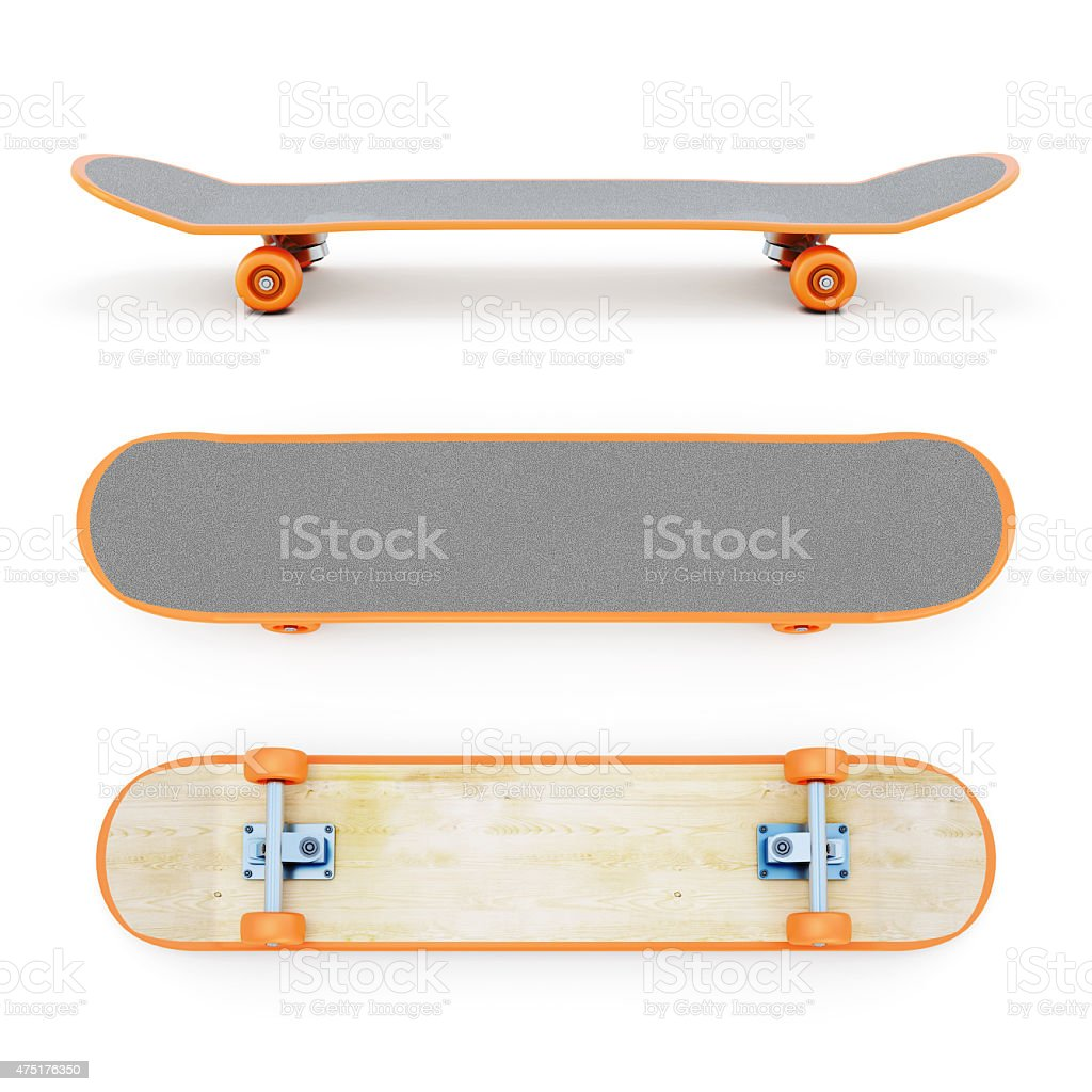 Skateboard clipping path vector art illustration
