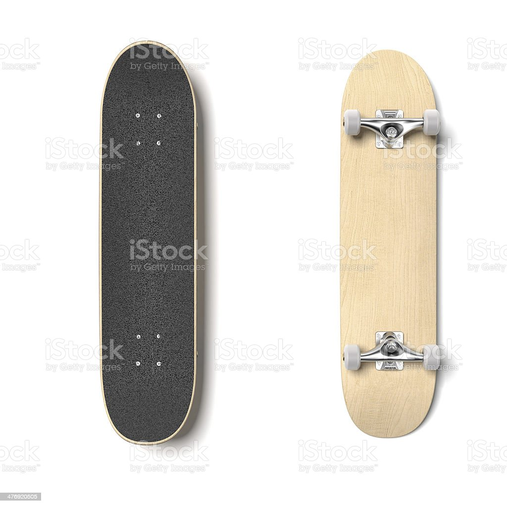 Skateboard deck isolated royalty-free stock photo