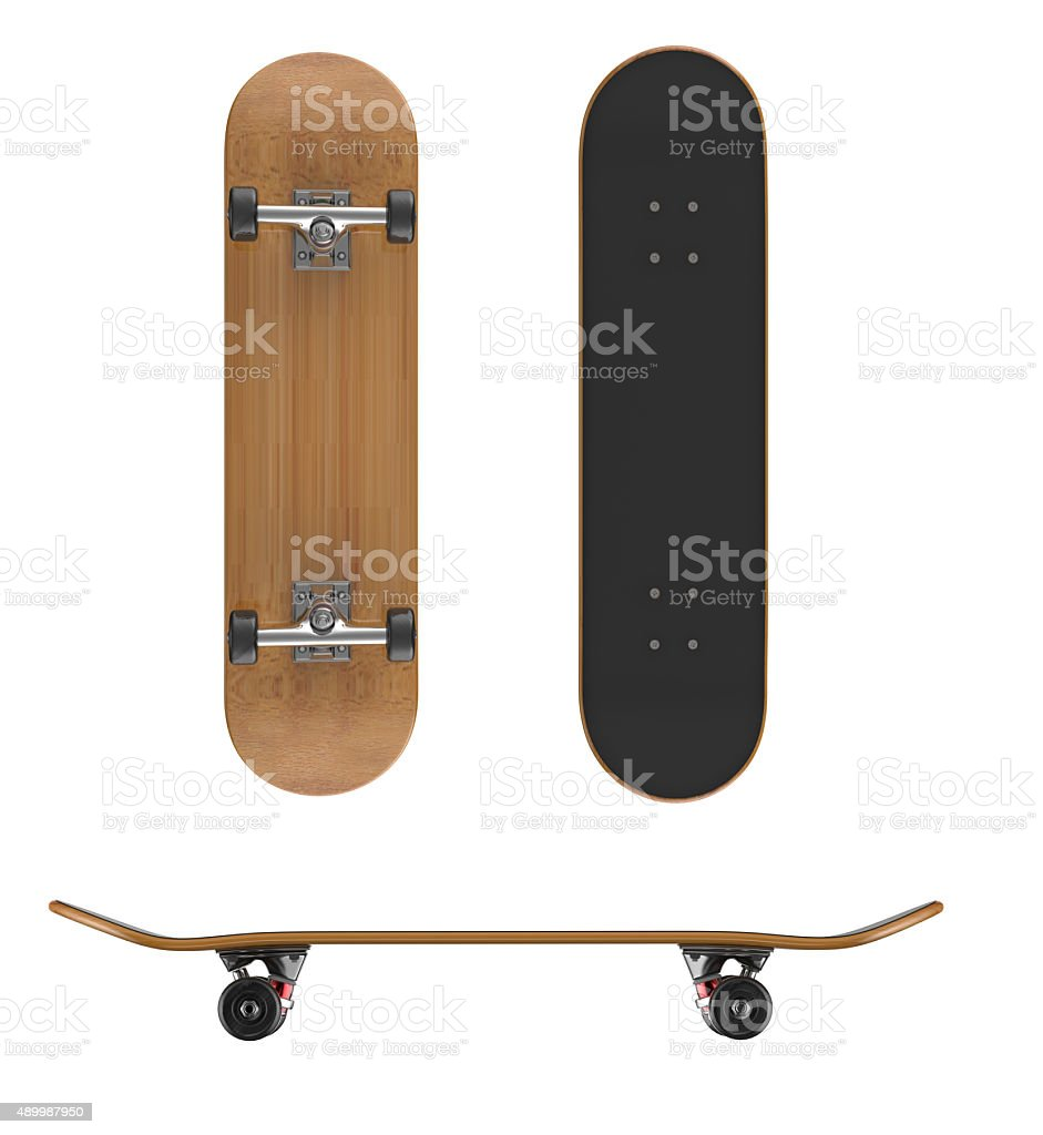 Skateboard deck on a white background stock photo