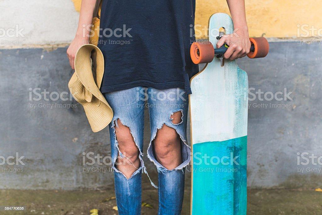Skateboard fashion stock photo