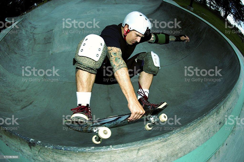 Skateboard Frontside Air stock photo