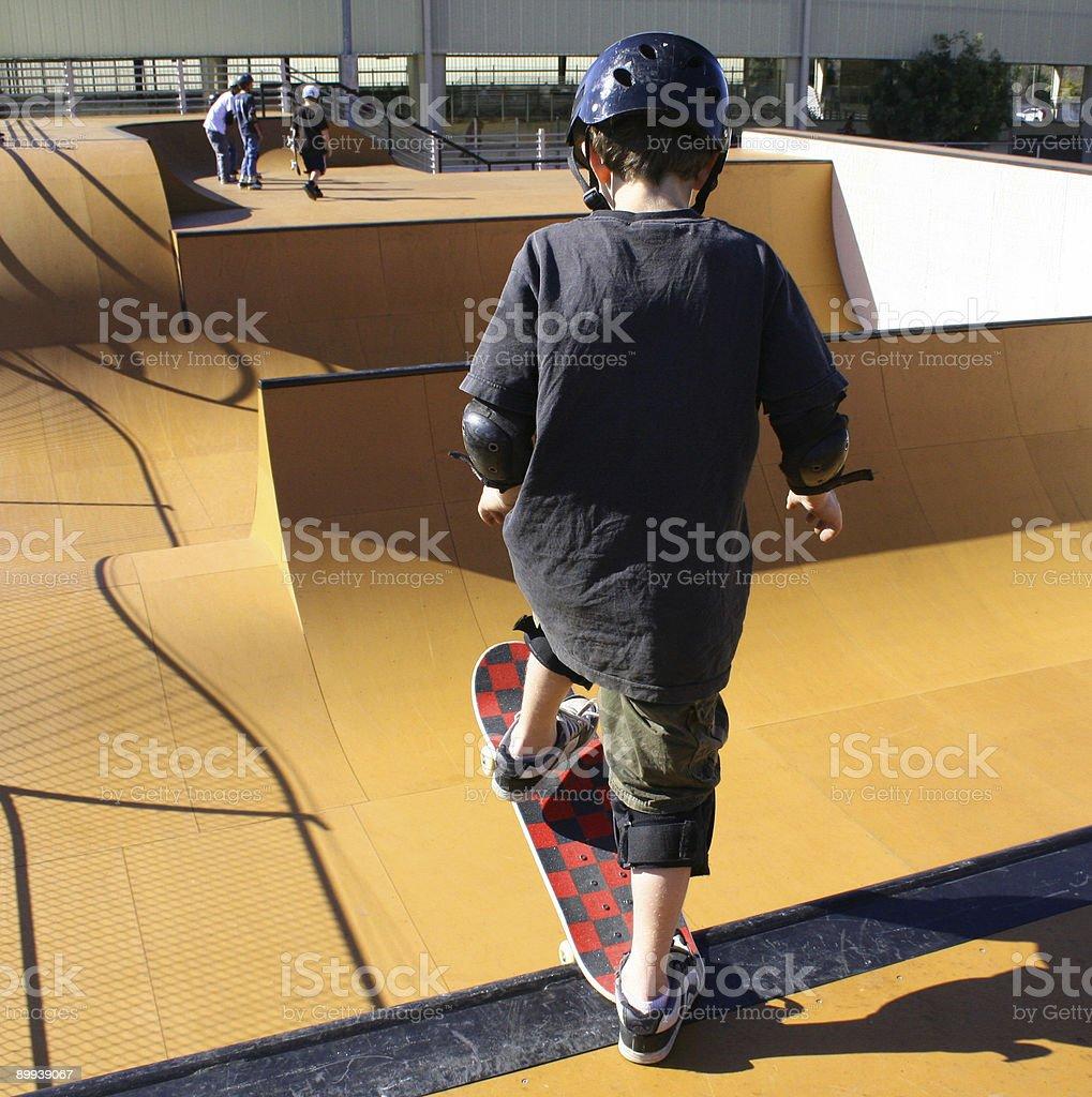 Skateboard fun stock photo
