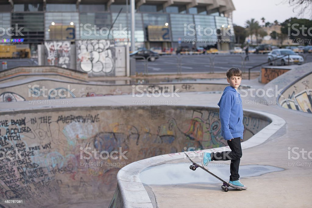 Skateboard Kid. stock photo