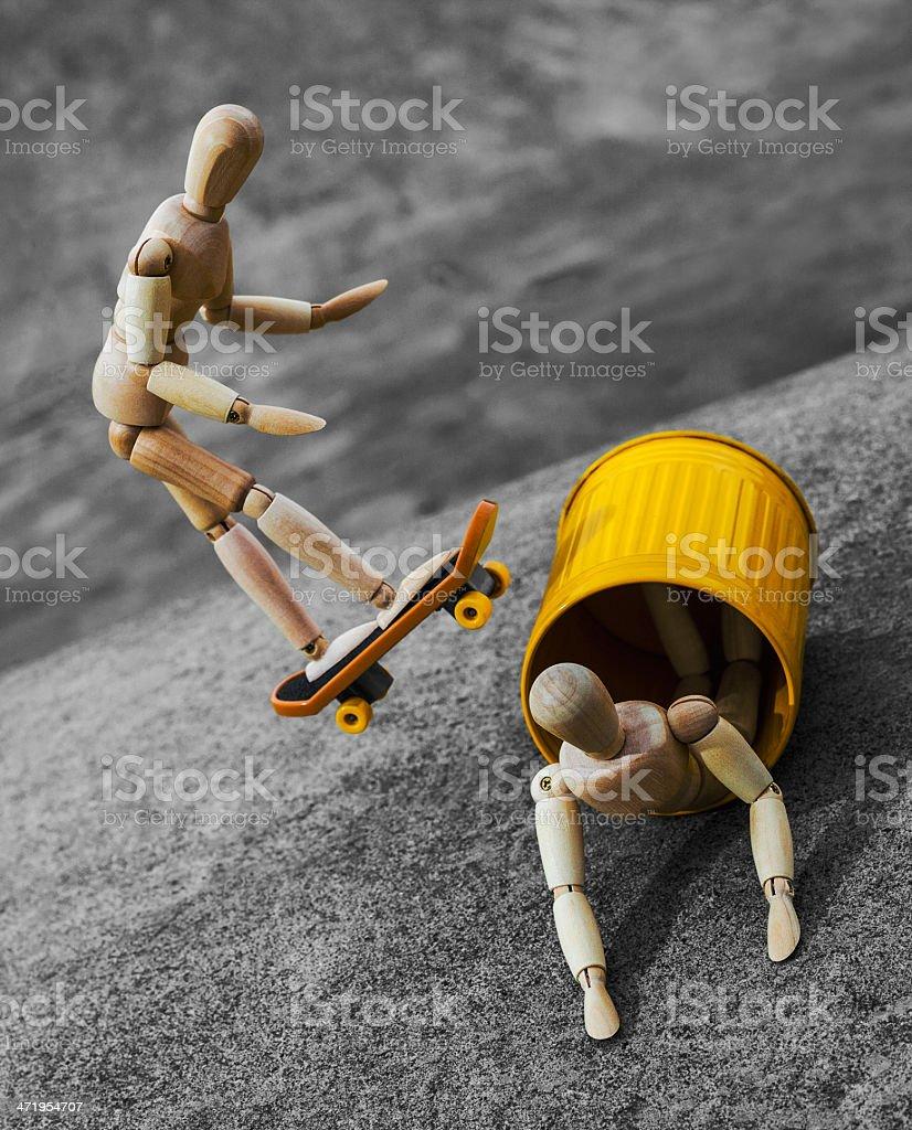 Skateboard Leap stock photo