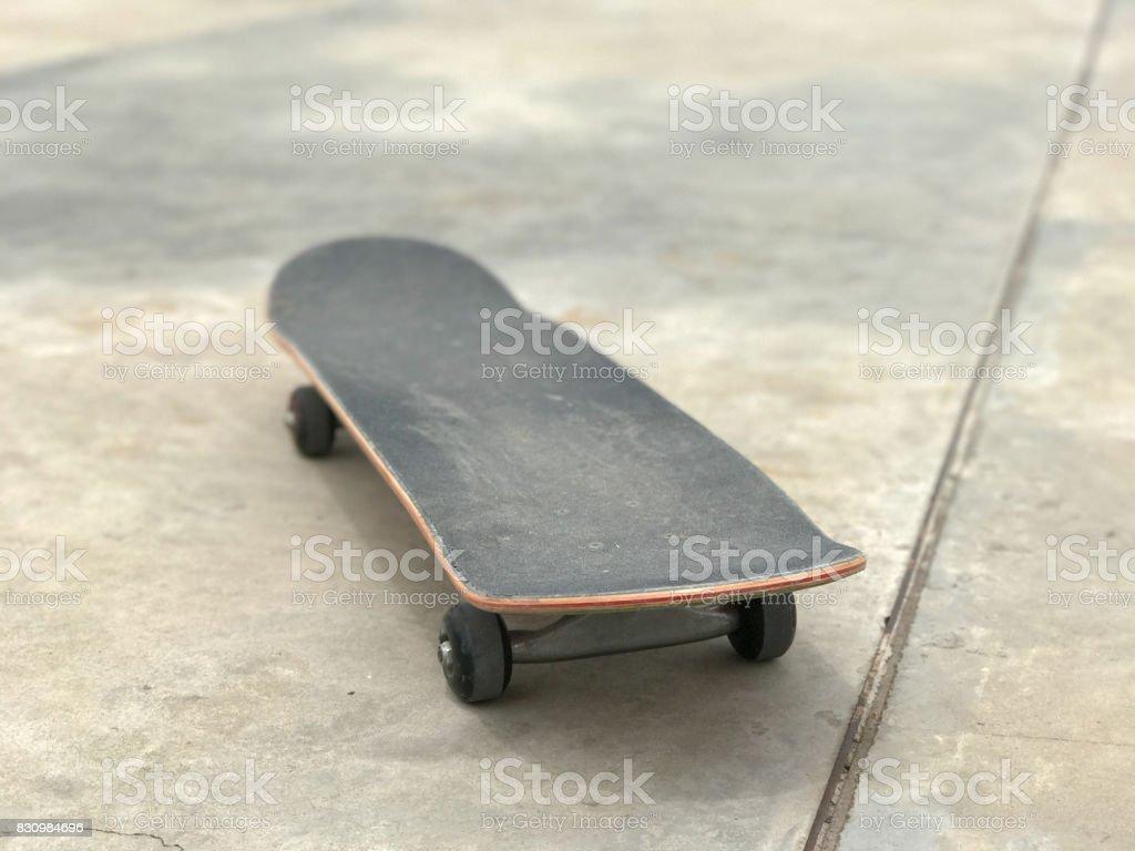 skateboard near the ramp stock photo
