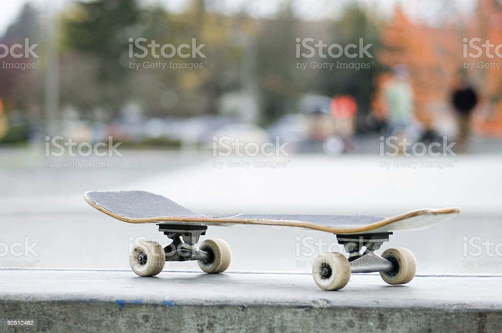 Skateboard - Room For Text royalty-free stock photo