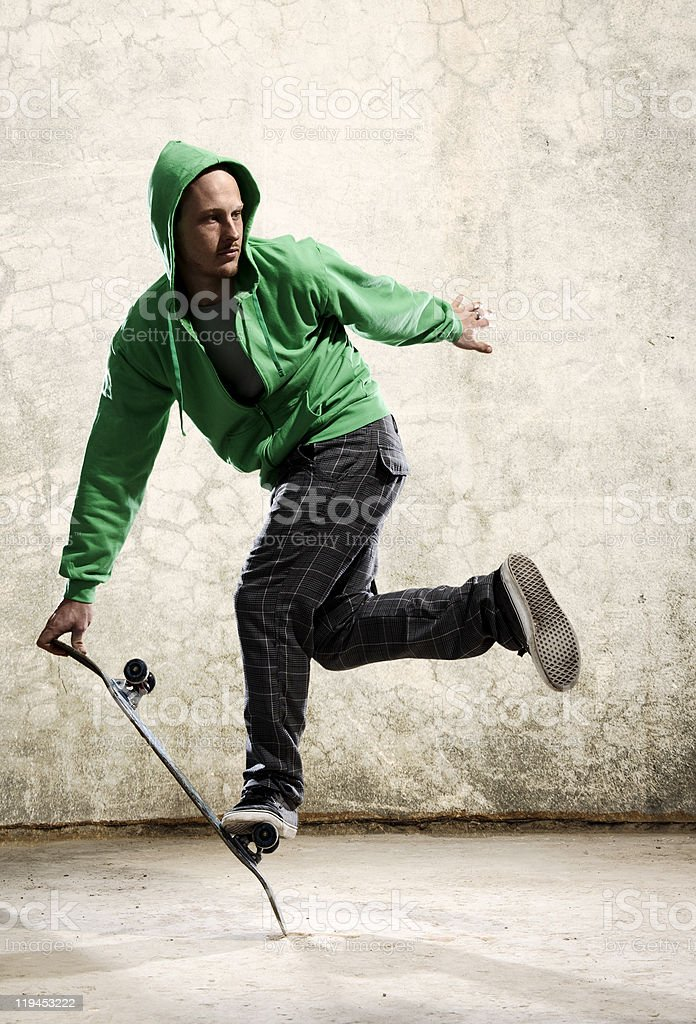 Skateboard stunt royalty-free stock photo
