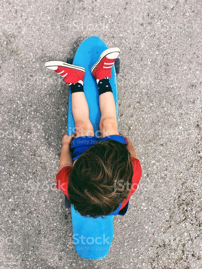 Skateboard time stock photo