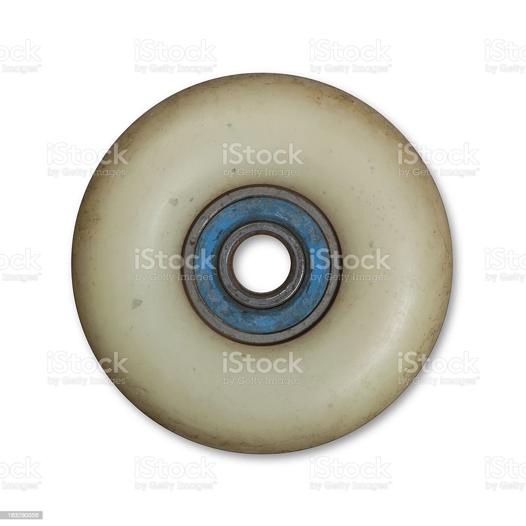 Skateboard wheel stock photo