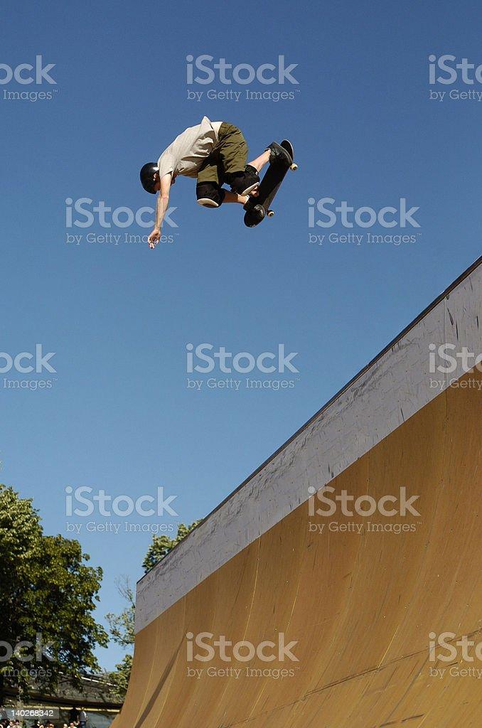 Skateboarder Backside Air stock photo