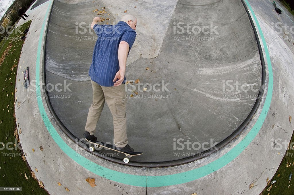 Skateboarder - Circular Carve Grind stock photo