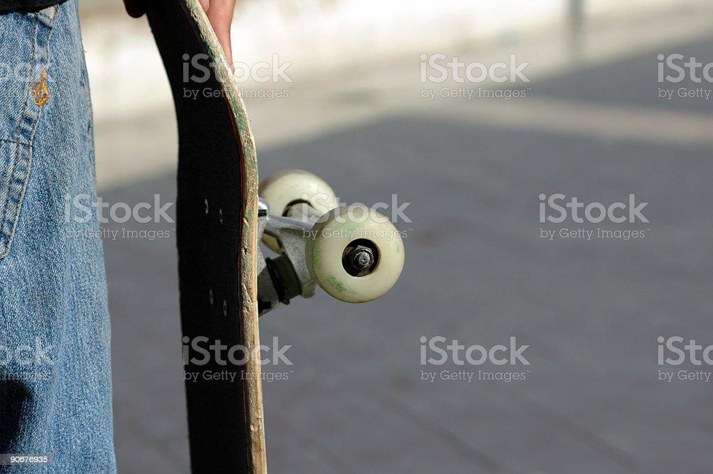 skateboarder detail stock photo