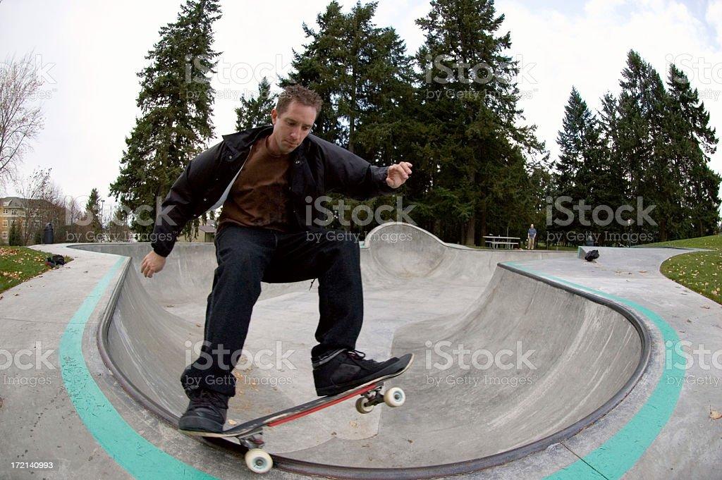 Skateboarder - Frontside 5-0 Grind royalty-free stock photo