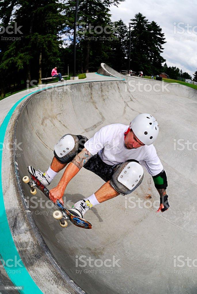 Skateboarder - Frontside Air stock photo