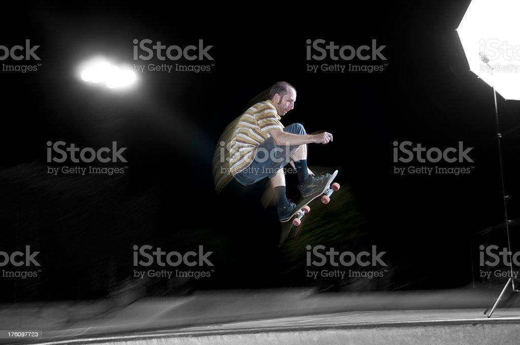 Skateboarder Hitting a Gap stock photo
