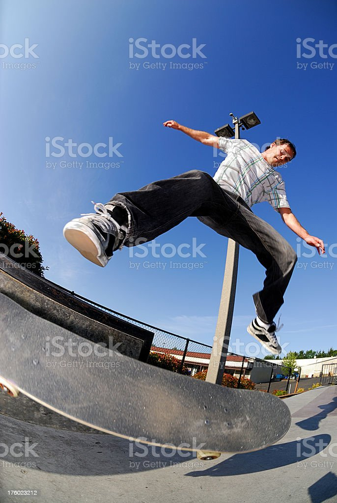 Skateboarder - Kick Flip royalty-free stock photo