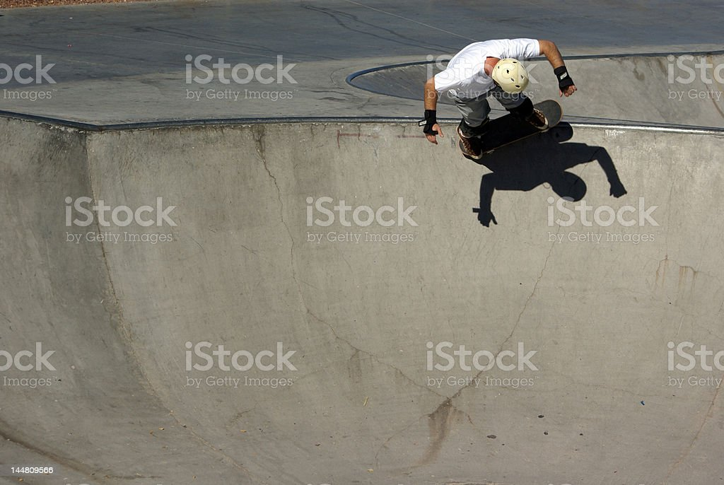 skateboarder - room for copy royalty-free stock photo