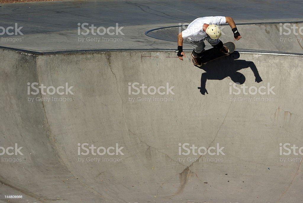 skateboarder - room for copy stock photo