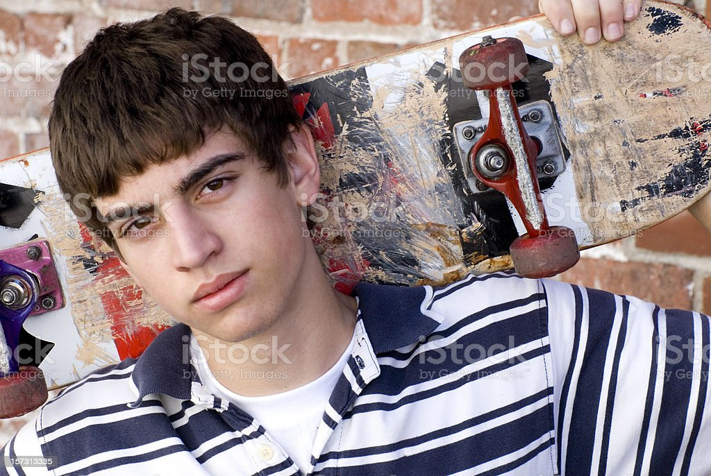 skateboarder with attitude royalty-free stock photo