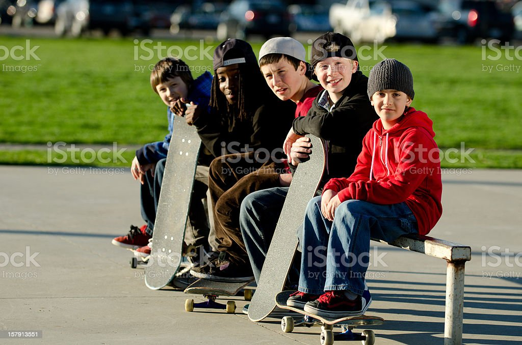 Skateboarders royalty-free stock photo