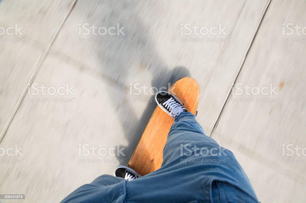 Skateboarding for fun stock photo