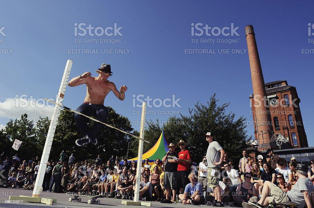 Skateboarding High Jump royalty-free stock photo