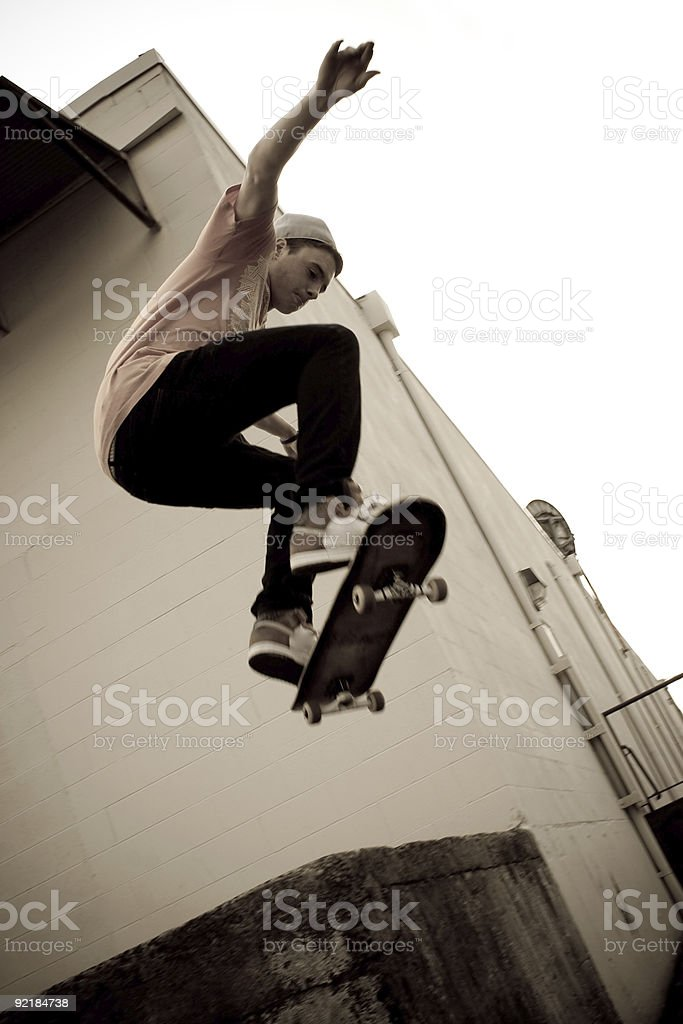Skateboarding Jump stock photo