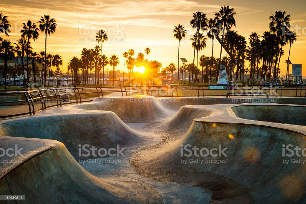 Skateboarding paradise stock photo