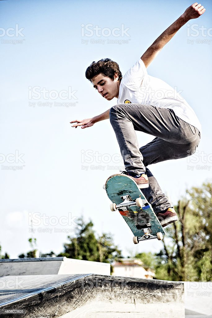 skateboarding stock photo