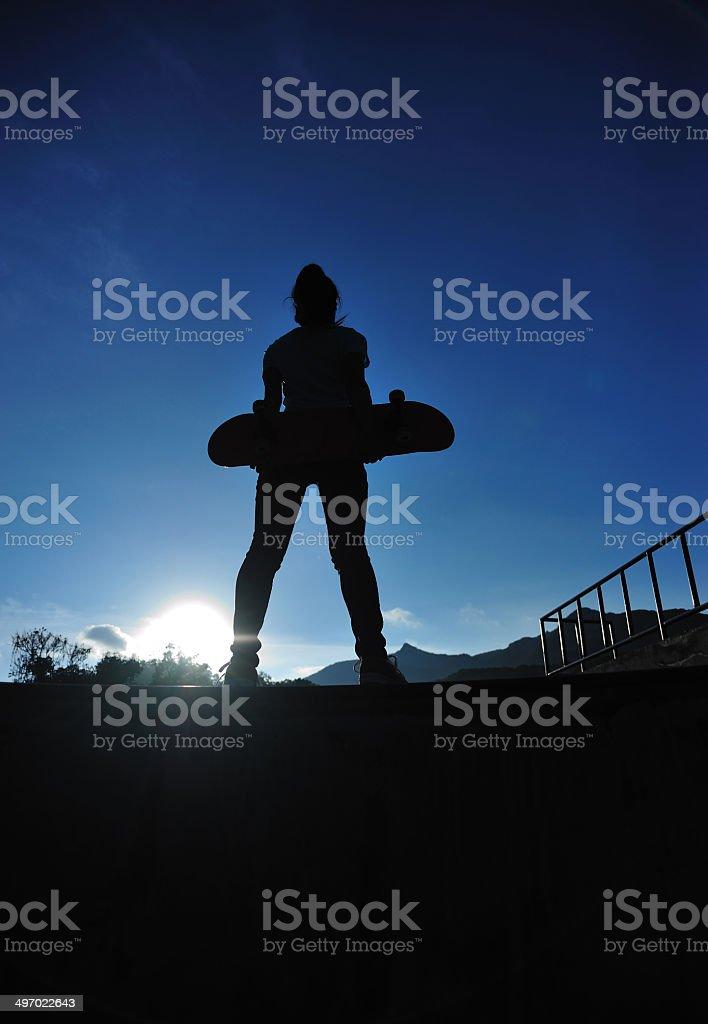 skateboarding royalty-free stock photo