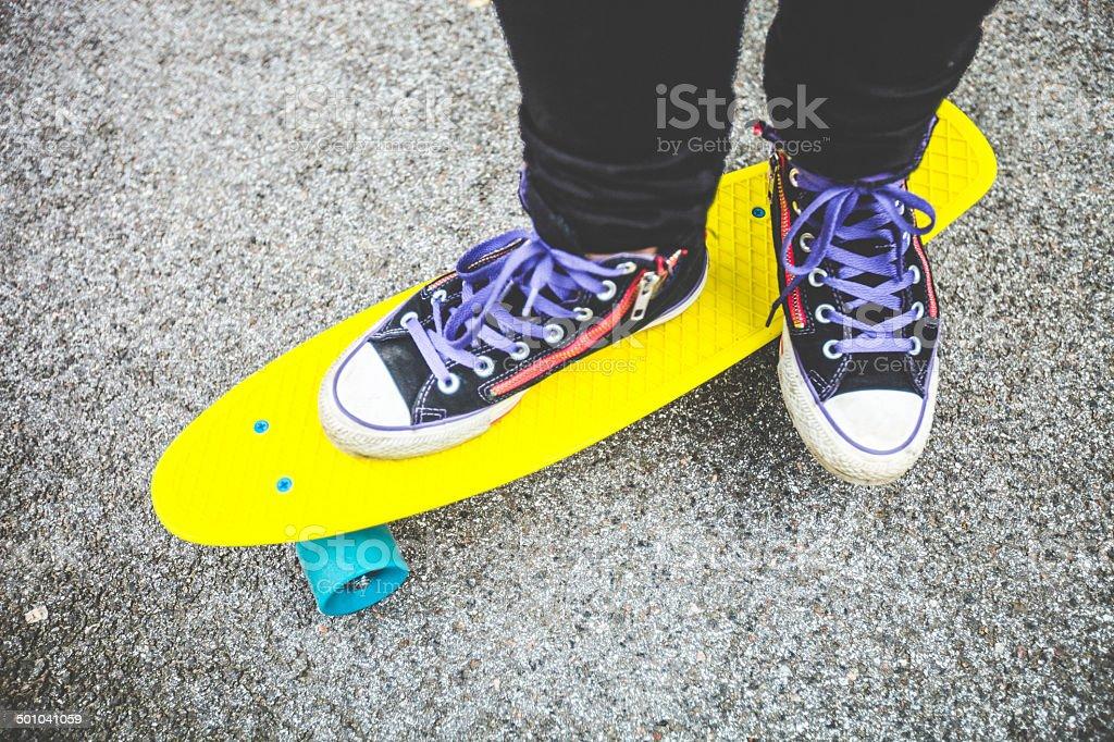 Skateboarding. stock photo
