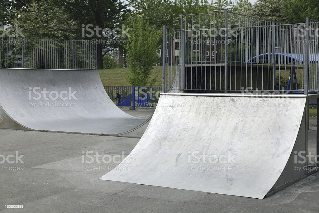 skateboarding ramps royalty-free stock photo