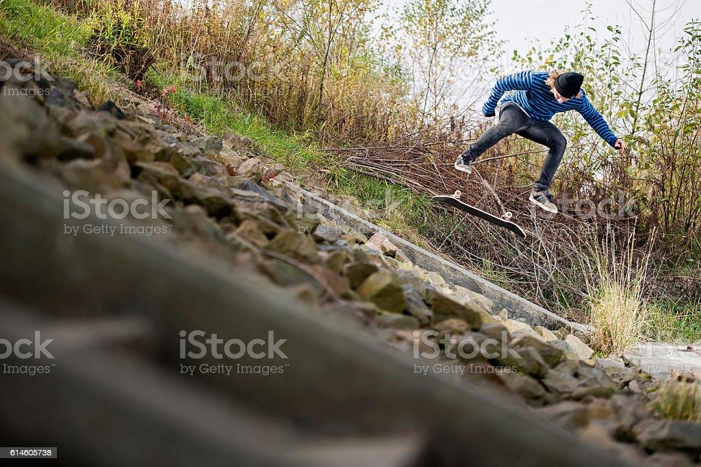Skateboarding Skateboard Skate Trick stock photo