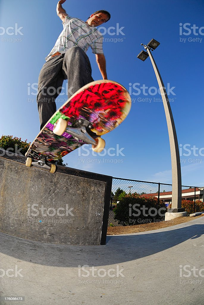 Skateboarding - Tail Slide royalty-free stock photo