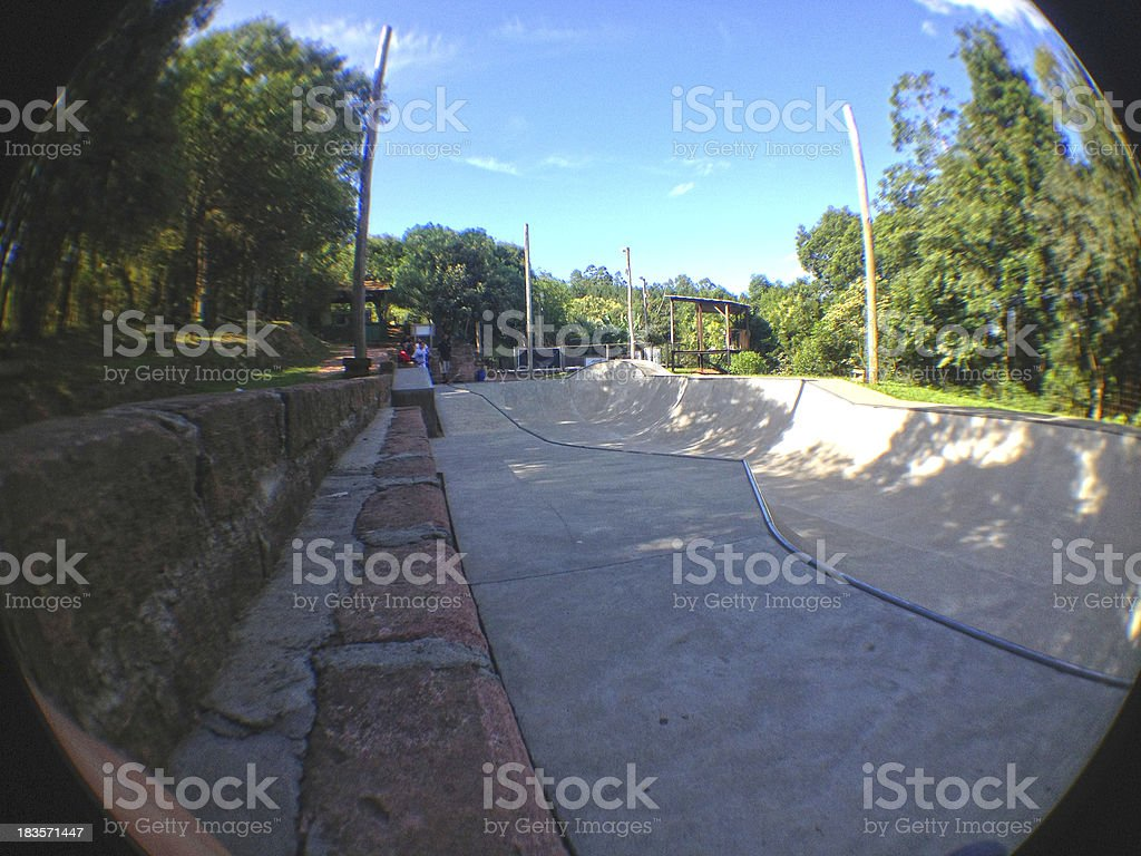 Skatepark in Nature stock photo
