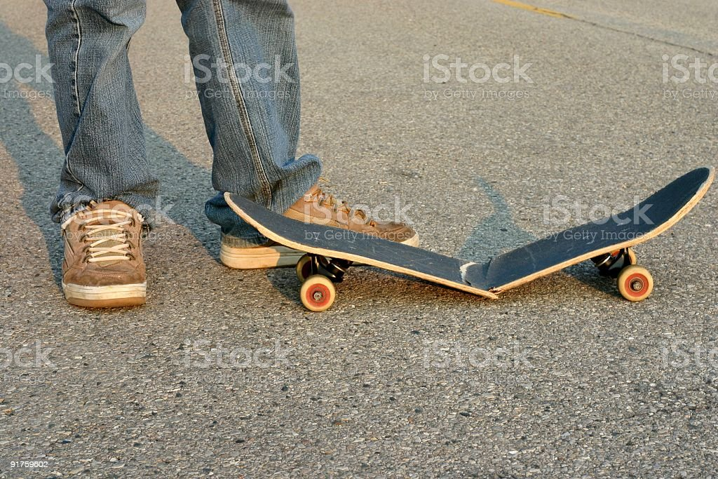Skater Broken Board royalty-free stock photo