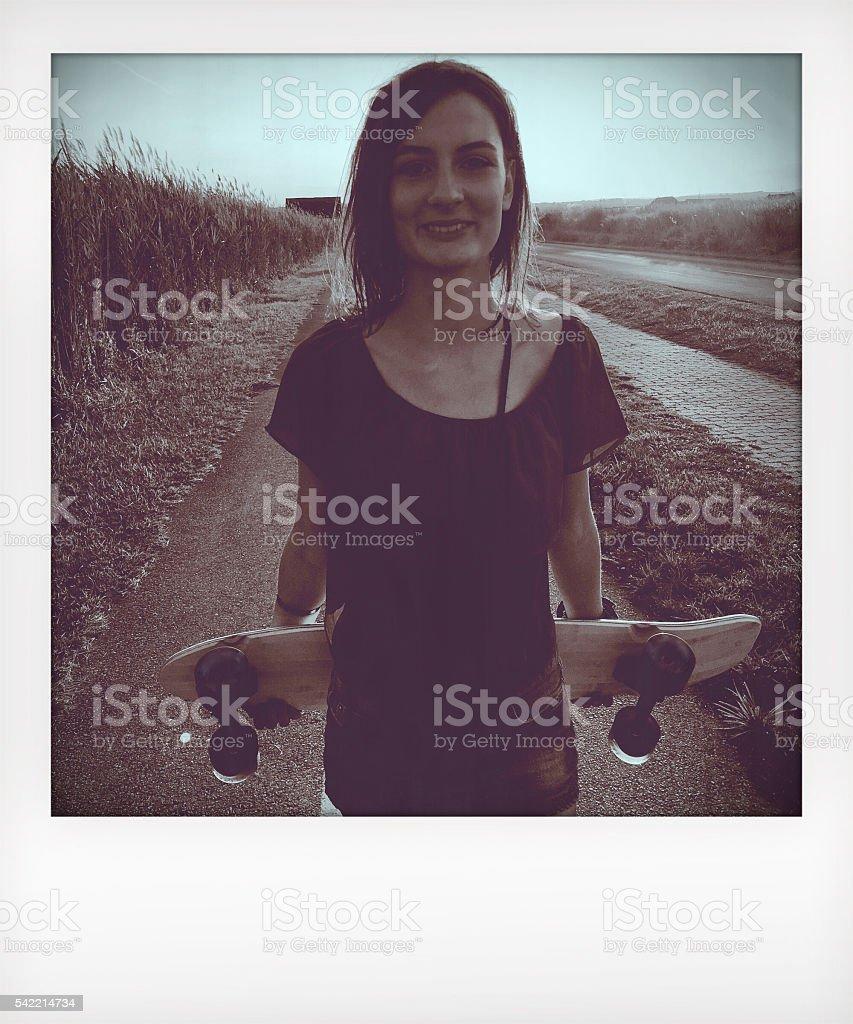 Skater girl stock photo