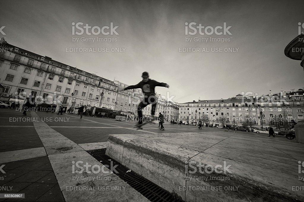 Skater in Lisbon stock photo