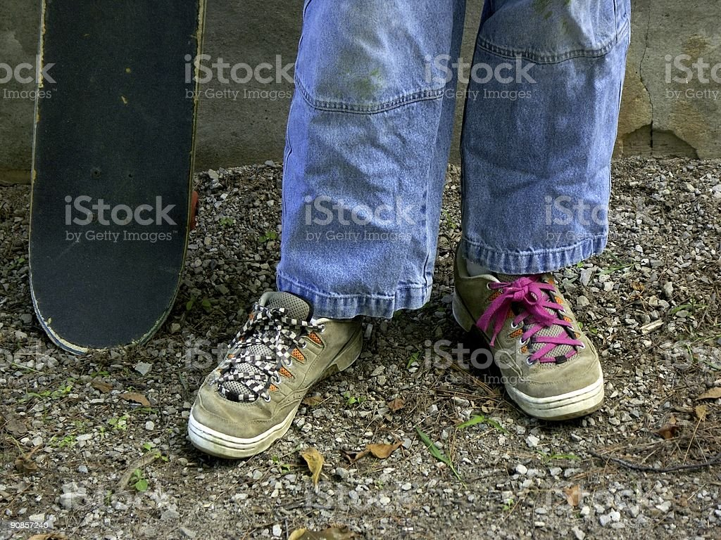 skater shoes stock photo
