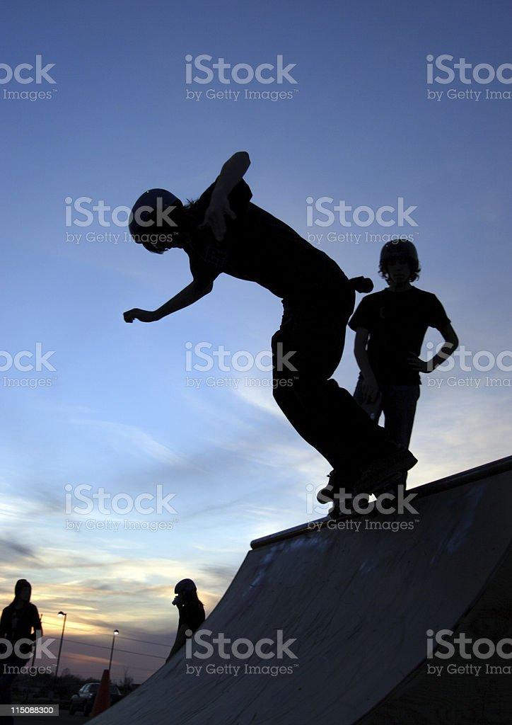 skater silhouette royalty-free stock photo