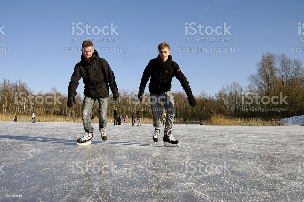 Skating fun royalty-free stock photo