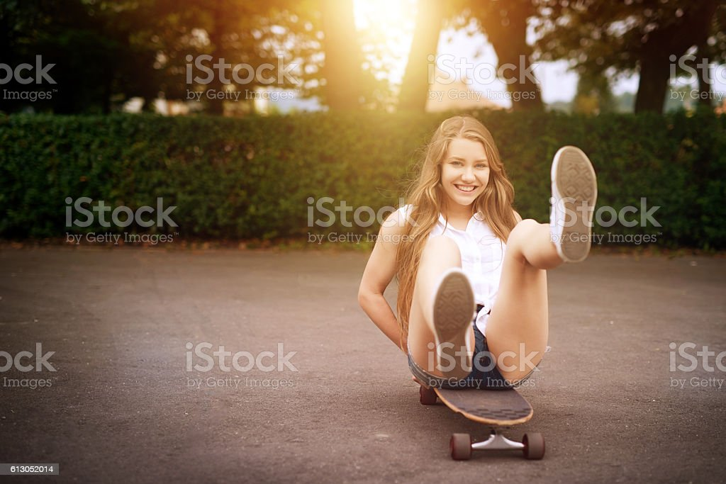 skating means fun time stock photo