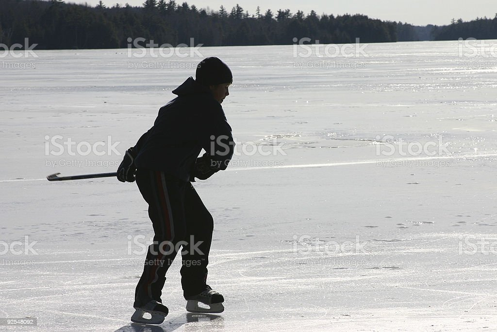skating on the pond II royalty-free stock photo