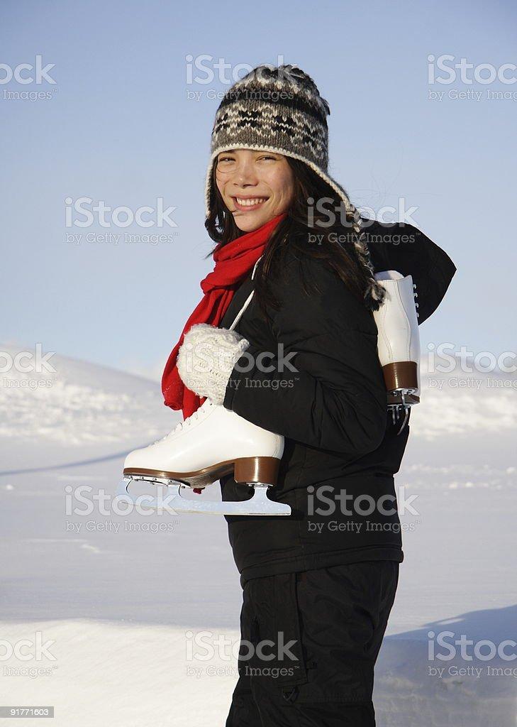 Skating woman royalty-free stock photo
