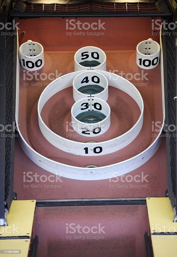 Skee Ball Machine stock photo